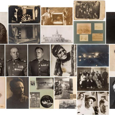 SOVIET PHOTOGRAPHS, 19 items including family portraits and