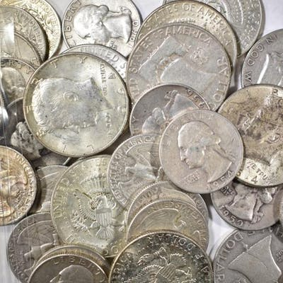$10.00 FACE VALUE 90% SILVER COINS