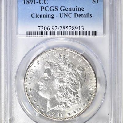 1891-CC MORGAN DOLLAR PCGS GENUINE