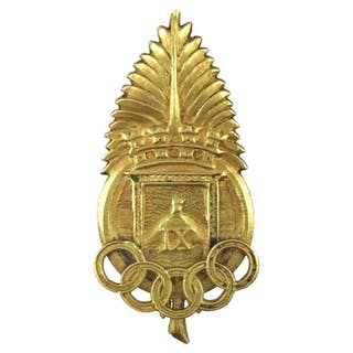 "1928 Olympic Games Uruguayan gold pin ""olympic palm"""