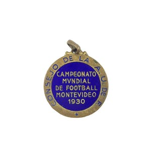 1930 World Cup silver bronce and enamel pin