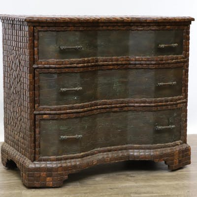 Maitland-Smith Coconut Block Front Bachelor's Chest