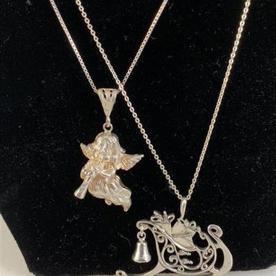 STERLING SILVER HOLIDAY NECKLACES