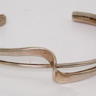 Georg Jensen Style 'Wave' Bangle
