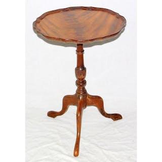 Vintage Mahogany Tripod Wine Table. 20th Century.