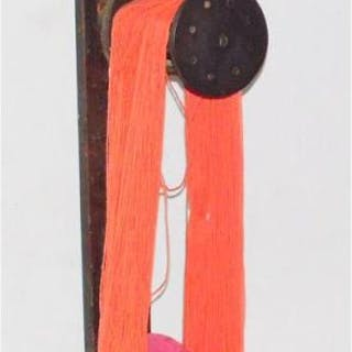 Antique Pine Adjustable Wool Winder