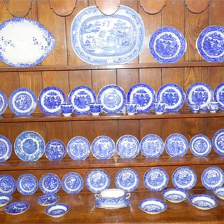 Antique Blue and White Old Willow China