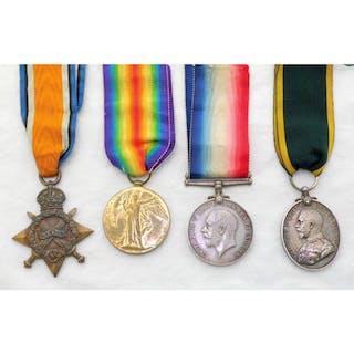 WW1 Set of Medals for Cpl  R V Turner No 1563 R A M C,  to I