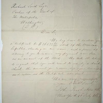 Astor Autographed Letter