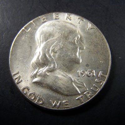 1961 Franklin Half Dollar CH BU
