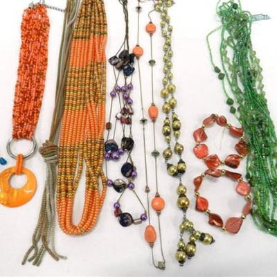 A Collection of Costume Jewellery Bead Necklaces