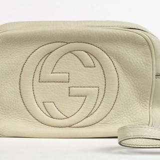 67c2aac2a4a Gucci Disco Bag shoulder bag 20cm, executed in cream grained