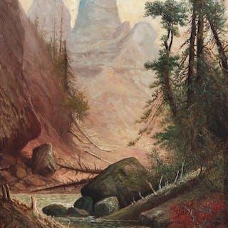 American Badlands Landscape painting