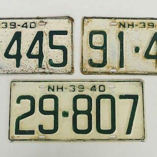 License Plate Lot – Current sales – Barnebys com