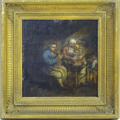 XVIII Flemish School, Oil on fielded oak panel, A …