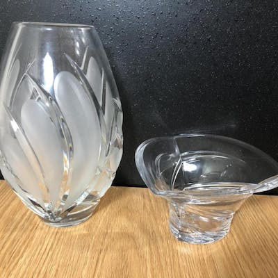 Waterford Marquis Crystal Vase & Candy Bowl Pair