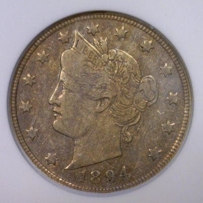 1894 Liberty V Nickel Better Date ANACS VF30