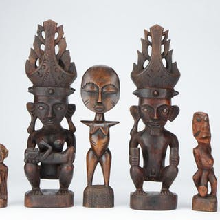 Collection of Tribal Fertility Statues