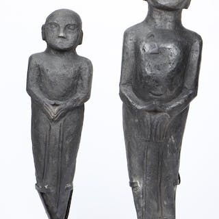 Two Indonesian Carved Wood Tribal Statues
