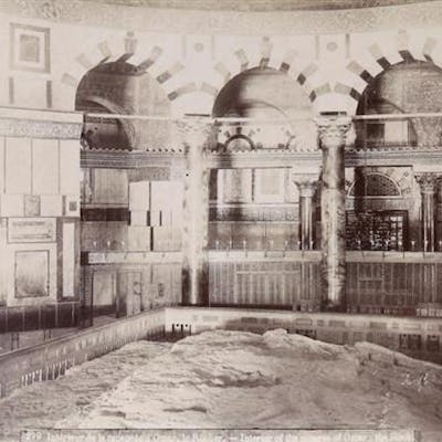 Felix Bonfils 1831-1885 (French) Interior of the mosque of Omar: the