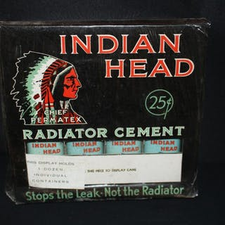 NOS CHIEF PERMATEX RADIATOR CEMENT DISPLAY SIGN