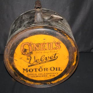 5 GAL ROCKER OIL CAN ONEILS VELVET MILWAUKEE WI