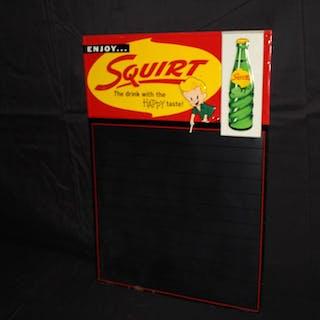 ENJOY SQUIRT SODA POP BLACKBOARD SIGN