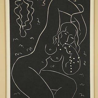 Matisse. Nu au Bracelet. Linocut. 1940.