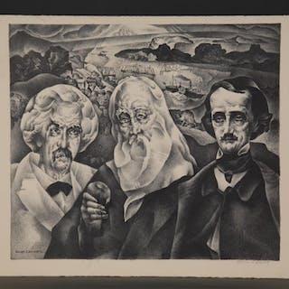 William Samuel Schwartz. Two Lithographs. 20th c.