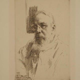 Anders Zorn. Etching. John Berg. 1912.