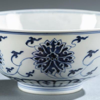 Chinese blue and white porcelain bowl, Guangxu.