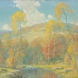 ERNEST ALBERT, American (1857-1946), Golden Day, oil on canv