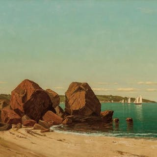 JAMES RENWICK BREVOORT, American (1832-1918), Half Moon Cove