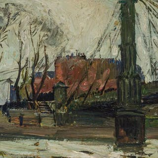RICHARD HAYLEY LEVER, American (1876-1958), Bridge Over the