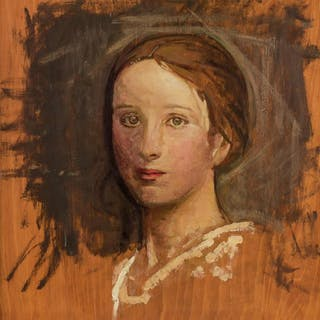 "ABBOTT HANDERSON THAYER, American (1849-1921), ""Portrait of"