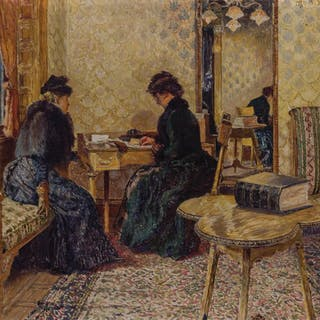 OTTO HENRY BACHER, American (1856-1909), Interior of Fifth A