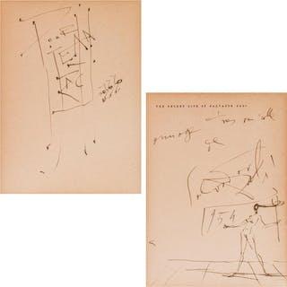 SALVADOR DALI, Spanish (1904-1989), Pour Jean Bach, Dedicati