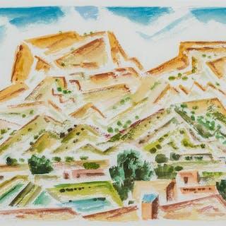 EMIL JAMES BISTTRAM, American (1895-1976), Southwest Landsca