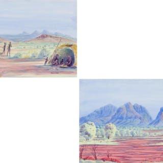 DOUGLASS ABBOTT, Australian (b. 1948), Pair of Landscapes, w
