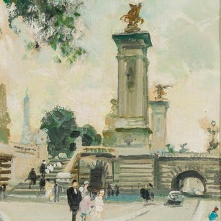 JULES RENE HERVE, French (1887-1981), Paris, oil on canvas