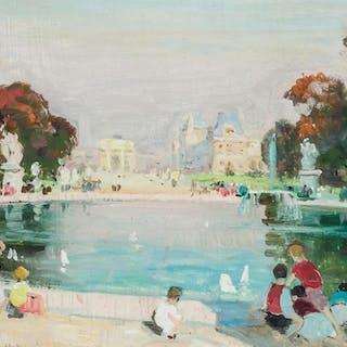 JULES RENE HERVE, French (1887-1981), Le Jardin des Tuilerie