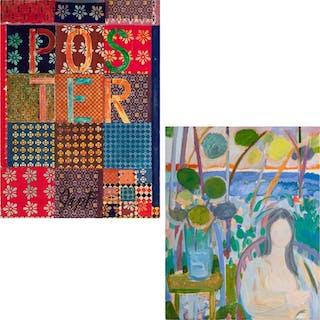 """JIM FORSBERG, American (1919-1991), """"Poster"""" Woman in a Gard"""
