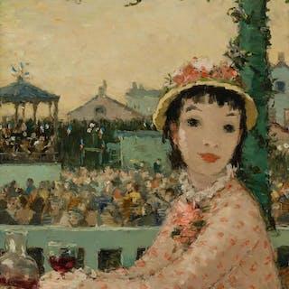 DIETZ EDZARD, German (1893-1963), Femme a la de Course de Ch