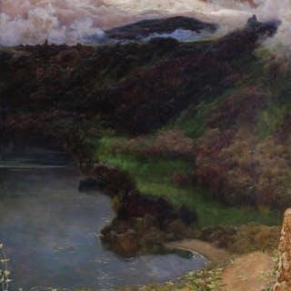 ENRIQUE SERRA Y AUQUE, Spanish (1859-1918), Landscape, oil o