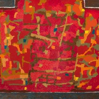 """FRANCISCO ICAZA, Mexican (1930-1940), """"Caja de Joyas"""", oil o"""