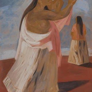 JESUS GUERRERO GALVAN, Mexican (1910-1973), Two Women, gouac