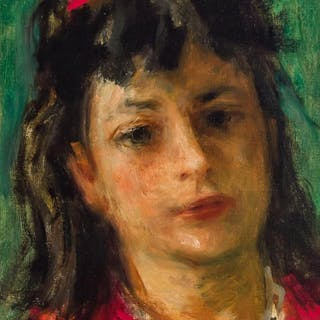 ROBERT PHILIPP, American (1895-1981), Portrait of a Girl, oi