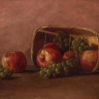 F.H. TABER , (20th century), Still Life with Apples and Grap