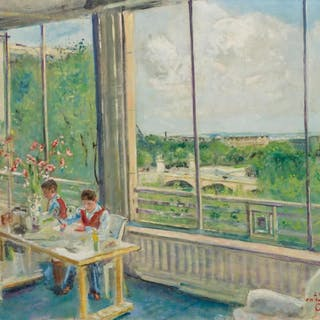 LUCIEN ADRION, French (1889-1953), Vue d'un Appartement Pari