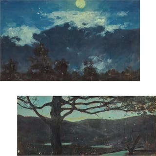 WILLIAM MERRITT POST, American (1856-1935), Nocturnal Scenes